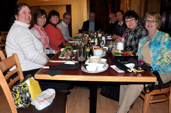 The whole table. Bishop Phil Whipple is at the other end of the table. Sorry about the lighting.