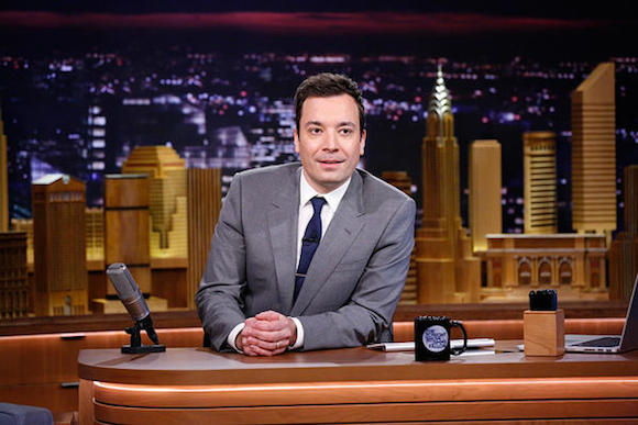 The new Tonight Show set has a NYC skyline.