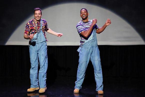 "In the opening show, Jimmy Fallon and Will Smith danced a very funny ""History of Hip Hop."""