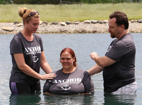 Renee's baptism by Kevin Whitacre and Tomi Cardin.